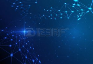 44195853-abstract-molecule-structure-on-dark-blue-color-background-vector-illustration-of-communication–netw