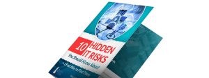 10 Hidden IT Risks Ebook Cover 3D Tilted-min